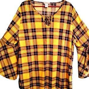 Keyhole L buffalo plus size 3x women blouse